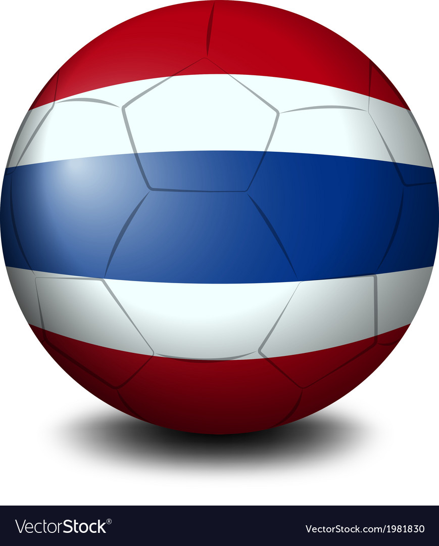 A soccer ball with the flag of thailand vector | Price: 1 Credit (USD $1)