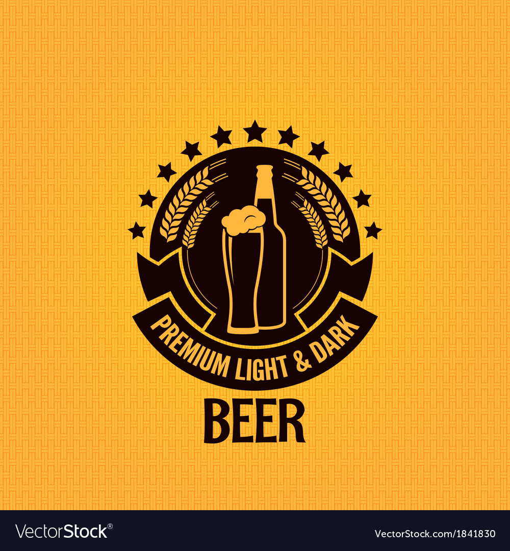 Beer bottle glass vintage background vector | Price: 1 Credit (USD $1)