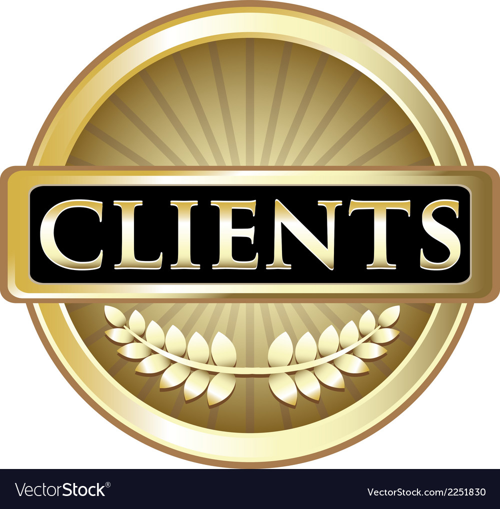 Clients gold label vector | Price: 1 Credit (USD $1)