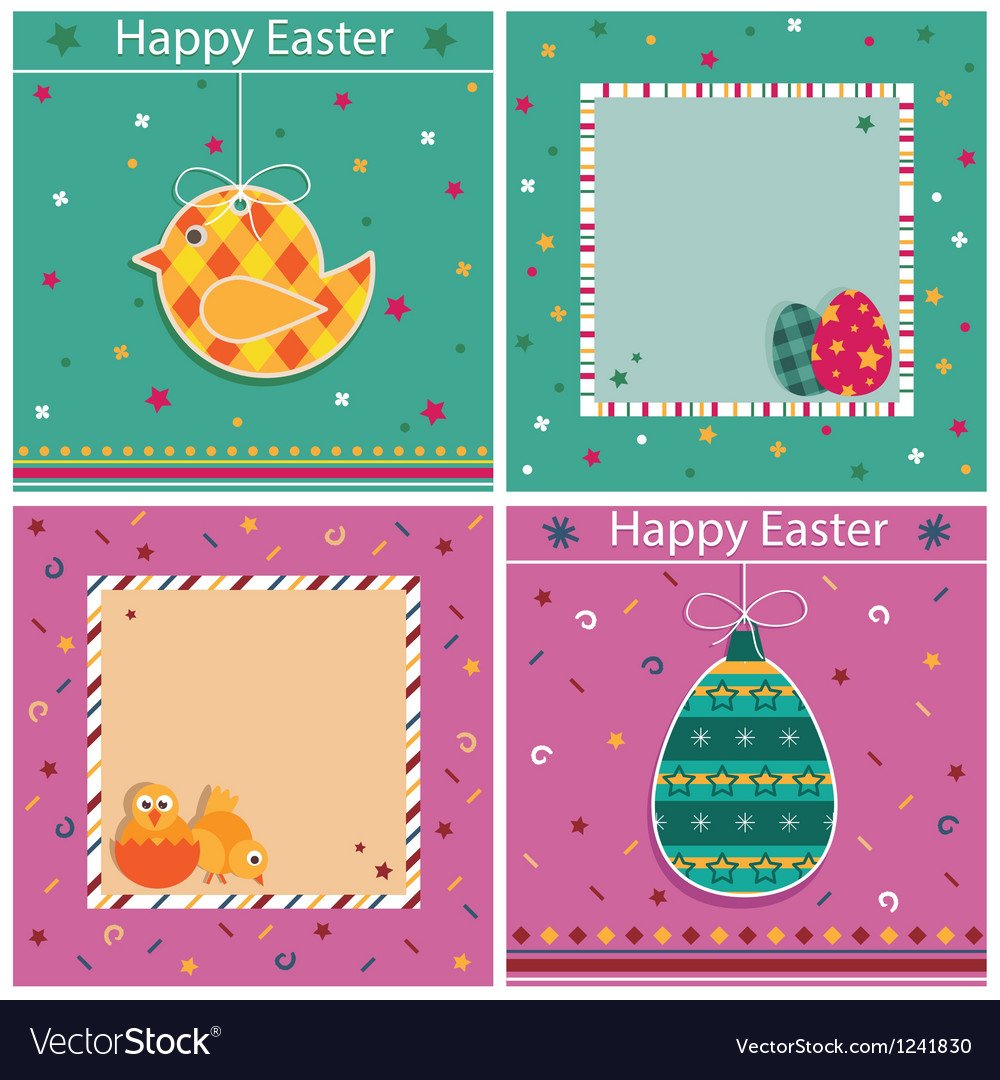 Easter cards vector | Price: 1 Credit (USD $1)