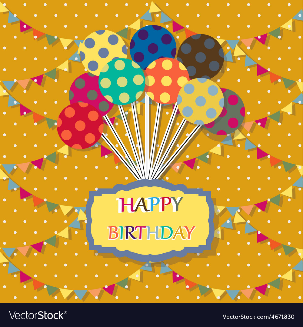 Happy birthday card celebration background with vector | Price: 1 Credit (USD $1)