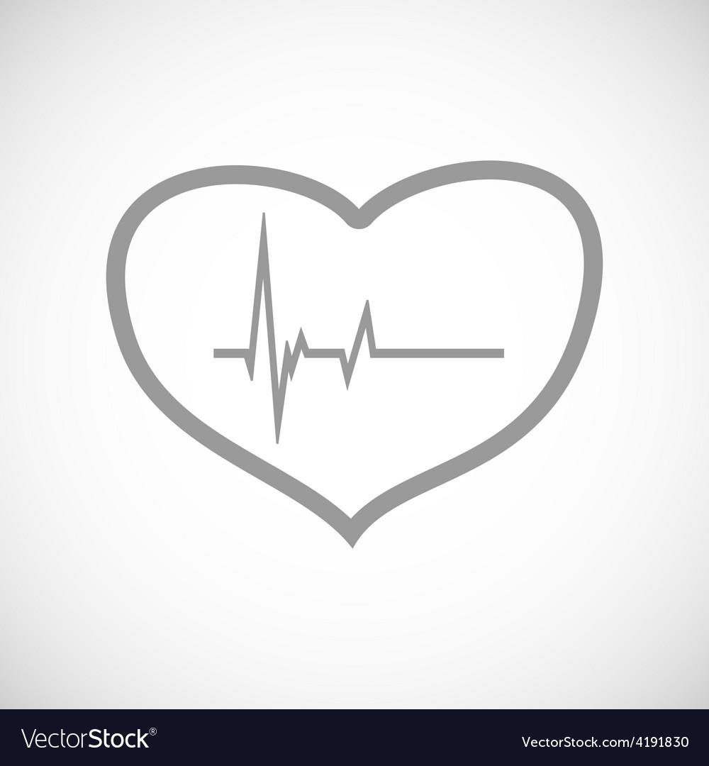 Heartbeat black icon vector | Price: 1 Credit (USD $1)