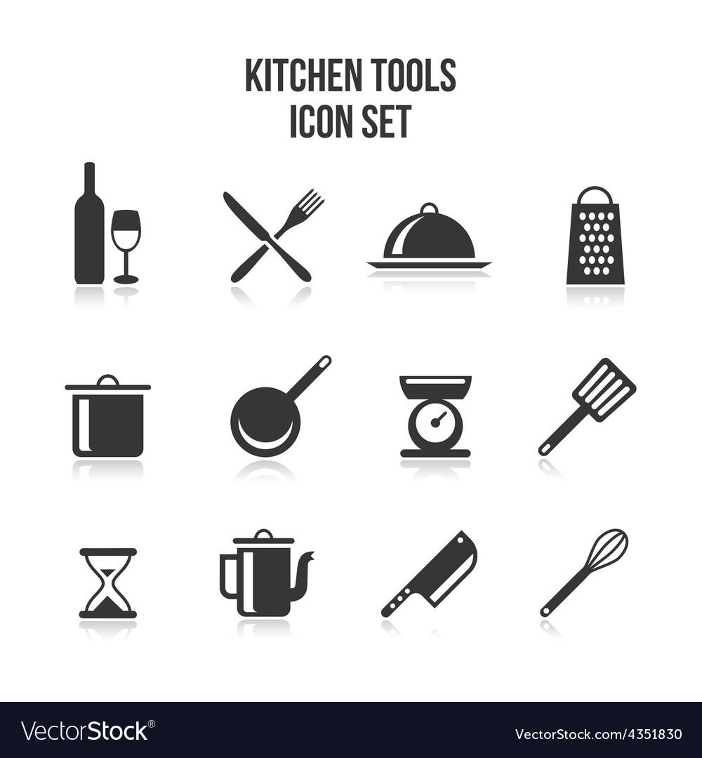 Kitchen and cooking icons vector | Price: 1 Credit (USD $1)