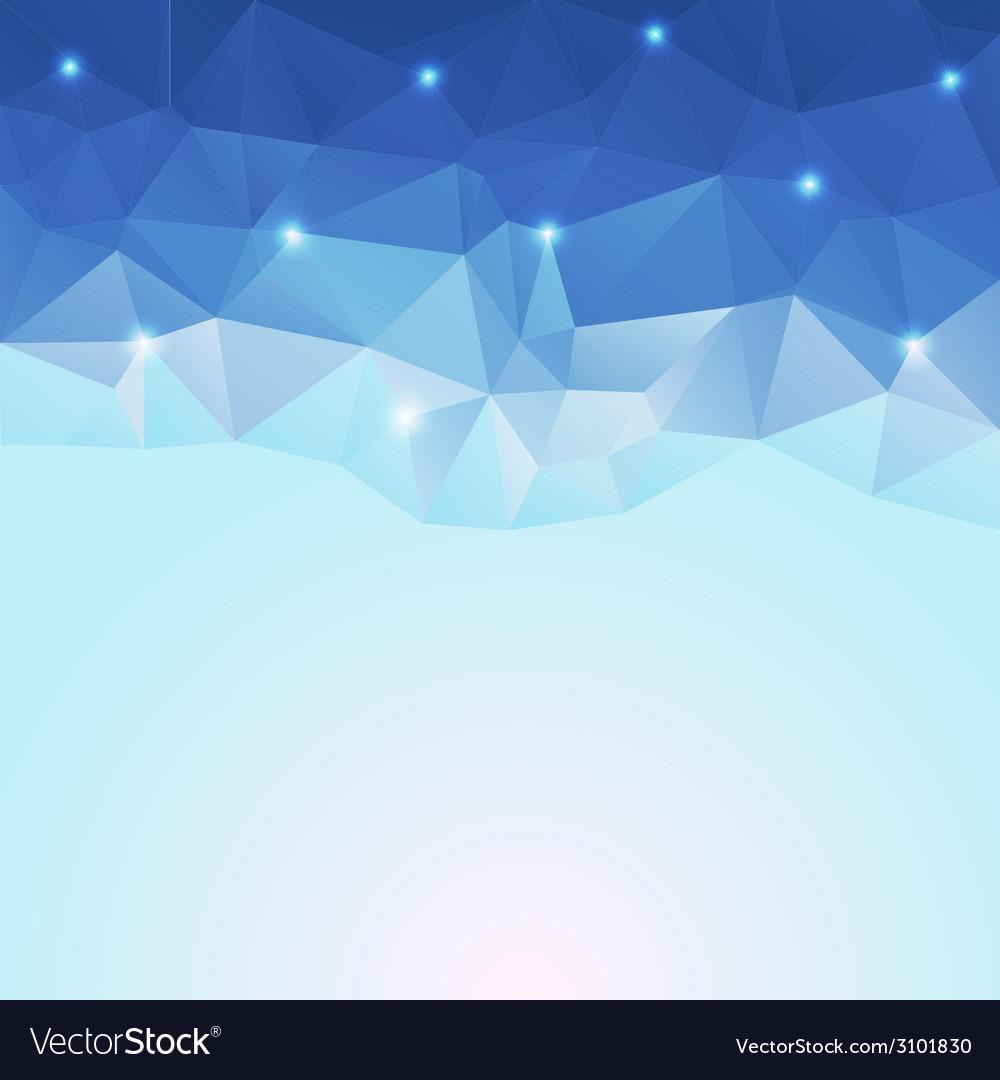 Nice blue ice polygonal background vector | Price: 1 Credit (USD $1)