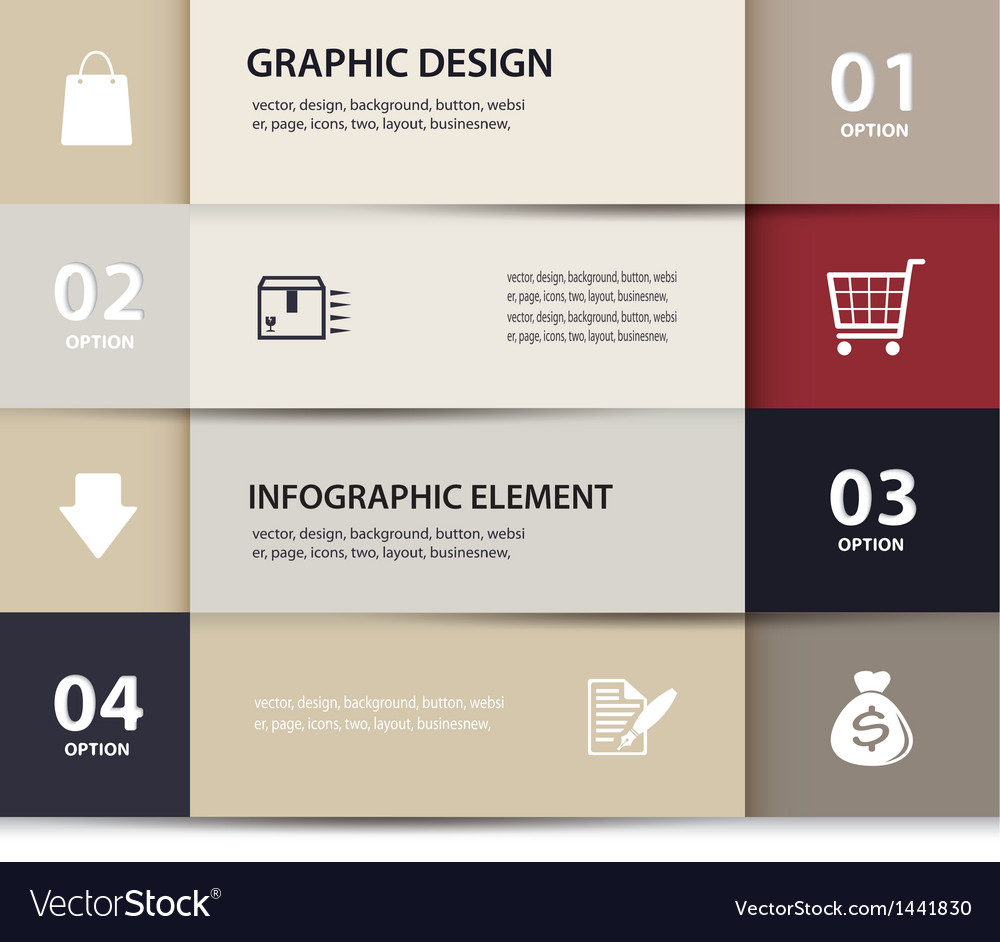 Paper e commerce and numbers design template vector | Price: 1 Credit (USD $1)