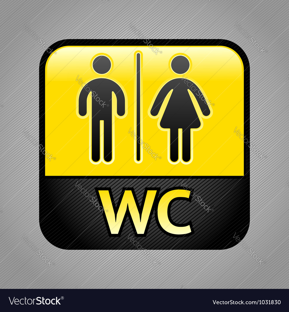 Restroom symbol vector | Price: 1 Credit (USD $1)
