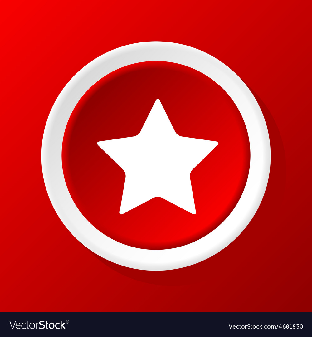 Star icon on red vector   Price: 1 Credit (USD $1)