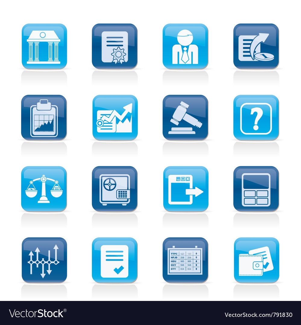 Stock exchange and finance icons vector | Price: 1 Credit (USD $1)