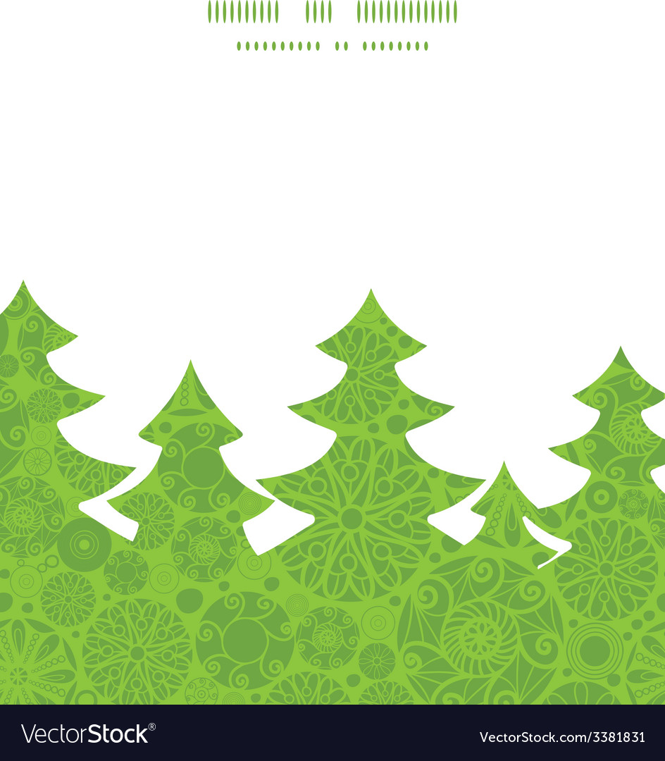 Abstract green and white circles christmas tree vector   Price: 1 Credit (USD $1)