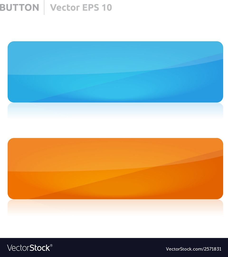 Button template web blue and orange vector | Price: 1 Credit (USD $1)