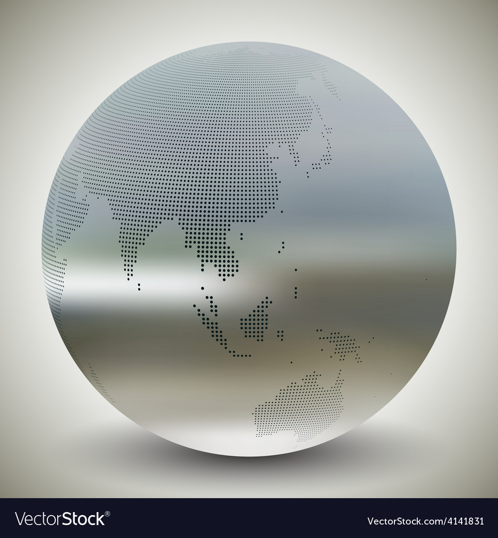 Dotted world globe blurred design vector | Price: 1 Credit (USD $1)