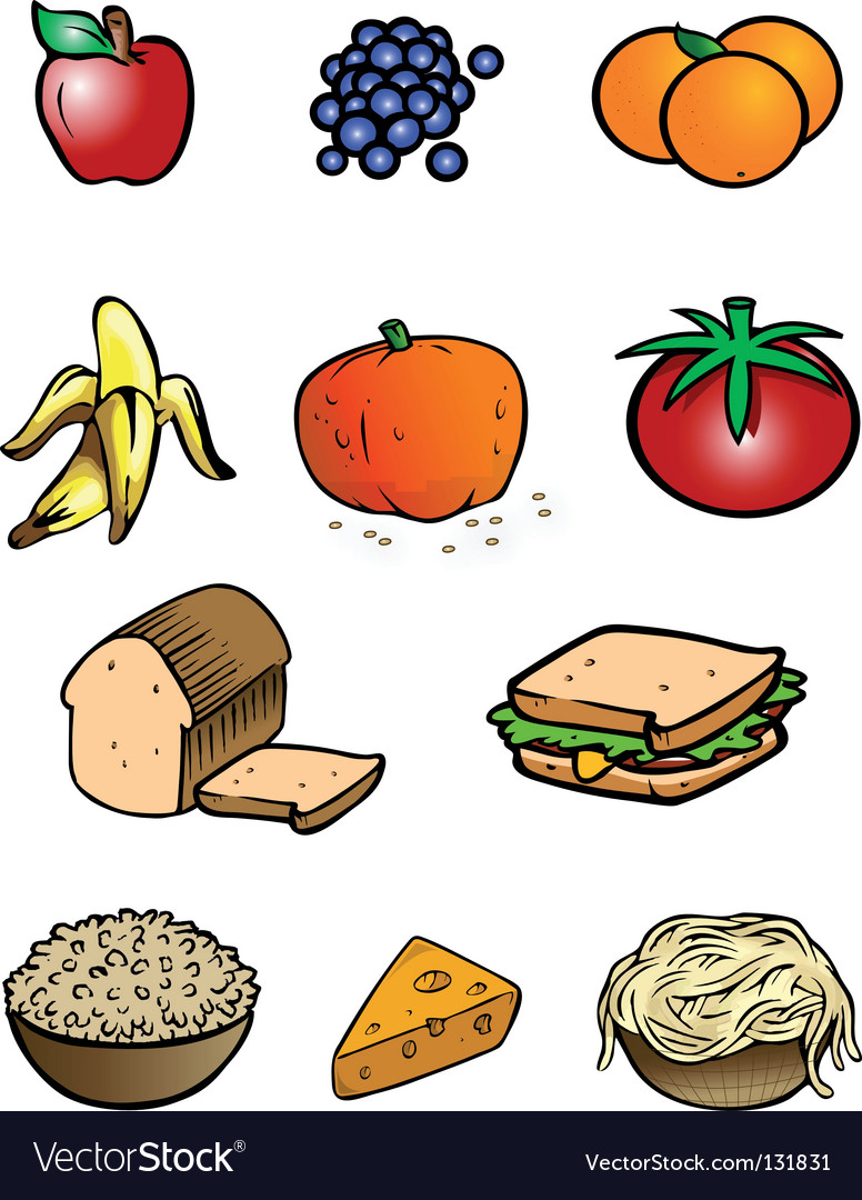 Food collection vector | Price: 1 Credit (USD $1)