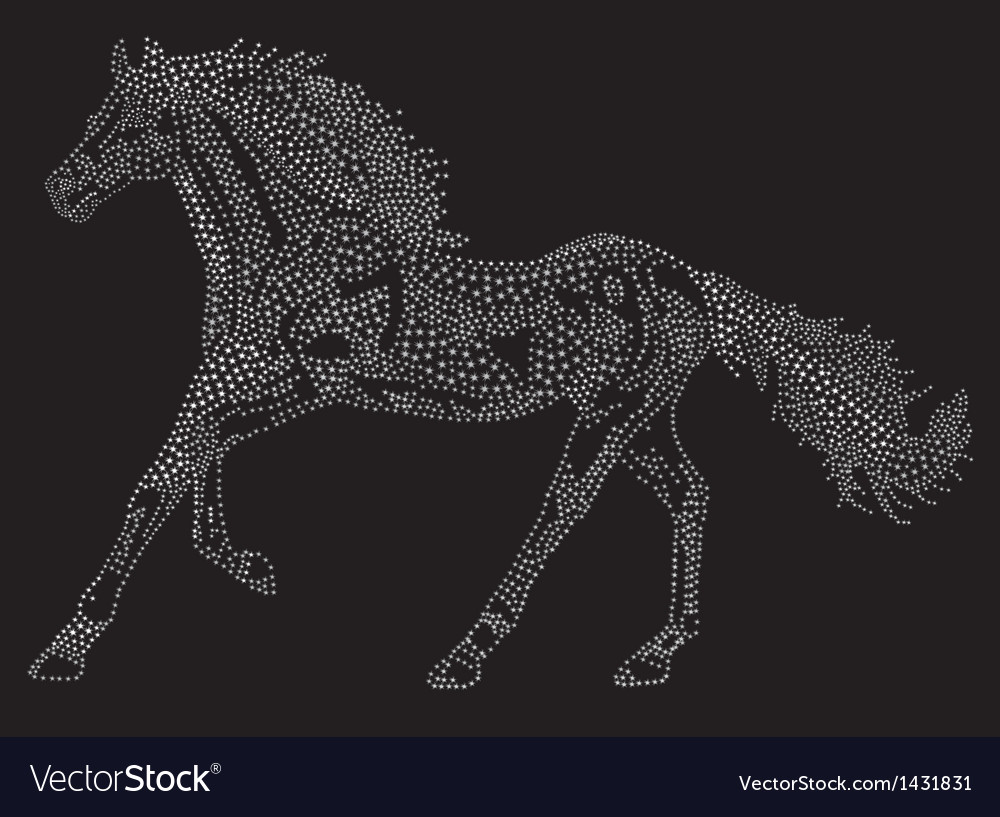 Horse of the stars vector | Price: 1 Credit (USD $1)