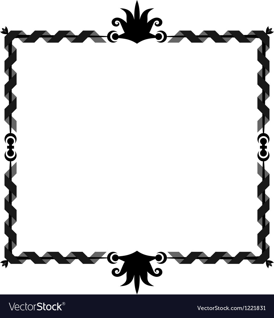Oldstyle ribbon frame vector | Price: 1 Credit (USD $1)