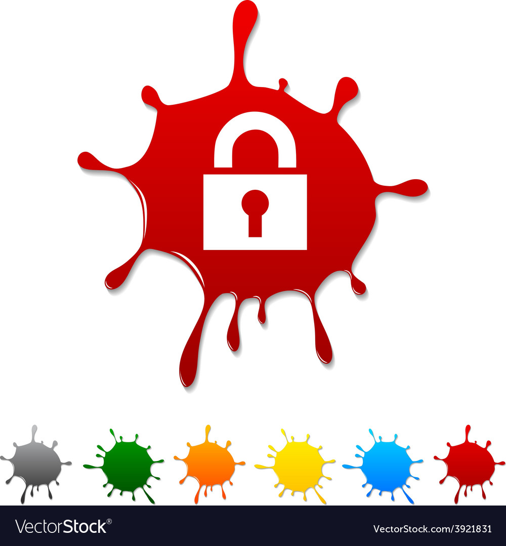 Padlock blot vector | Price: 1 Credit (USD $1)