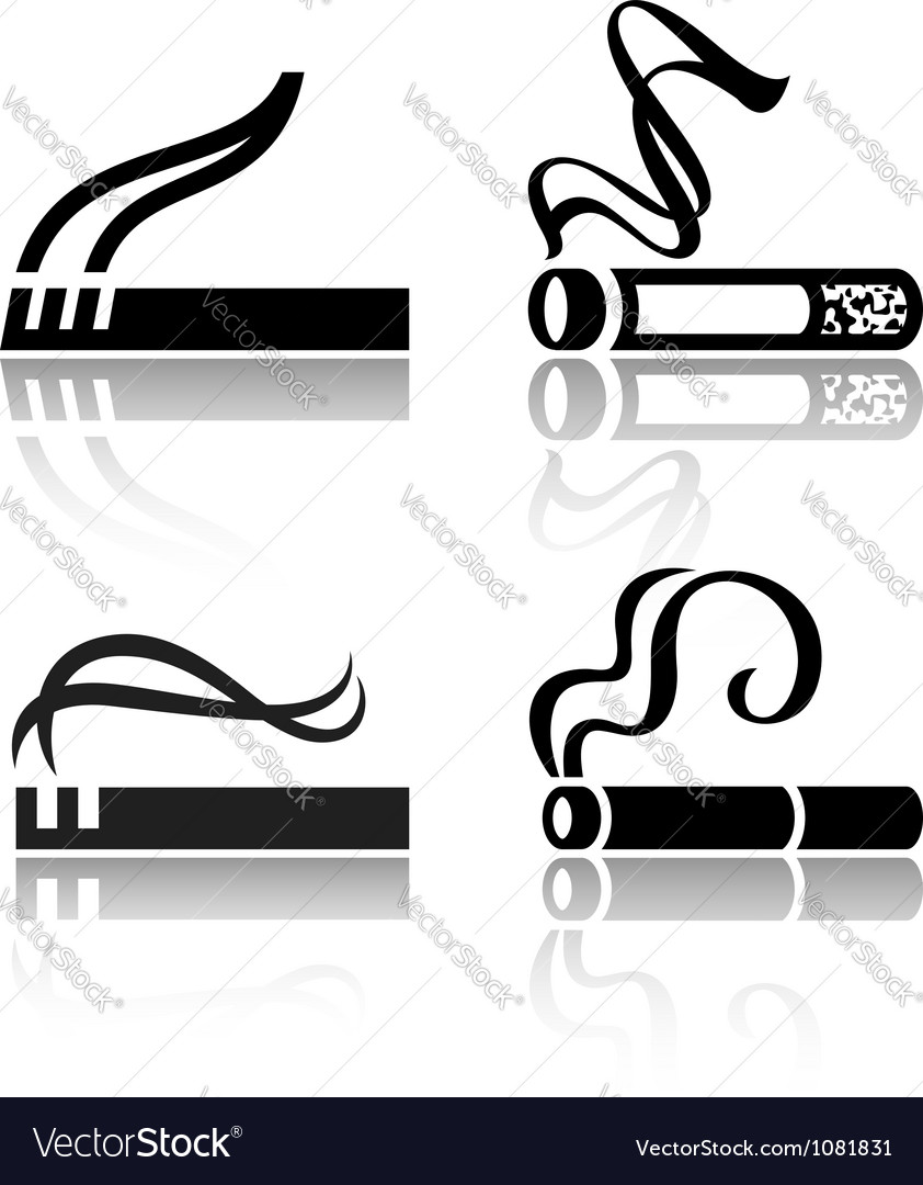 Set of signs cigarettes vector | Price: 1 Credit (USD $1)