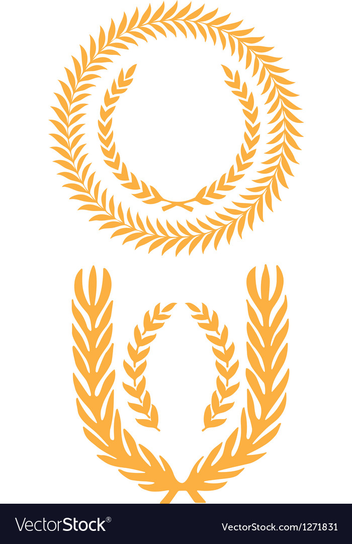 Wheat wreath vector | Price: 1 Credit (USD $1)