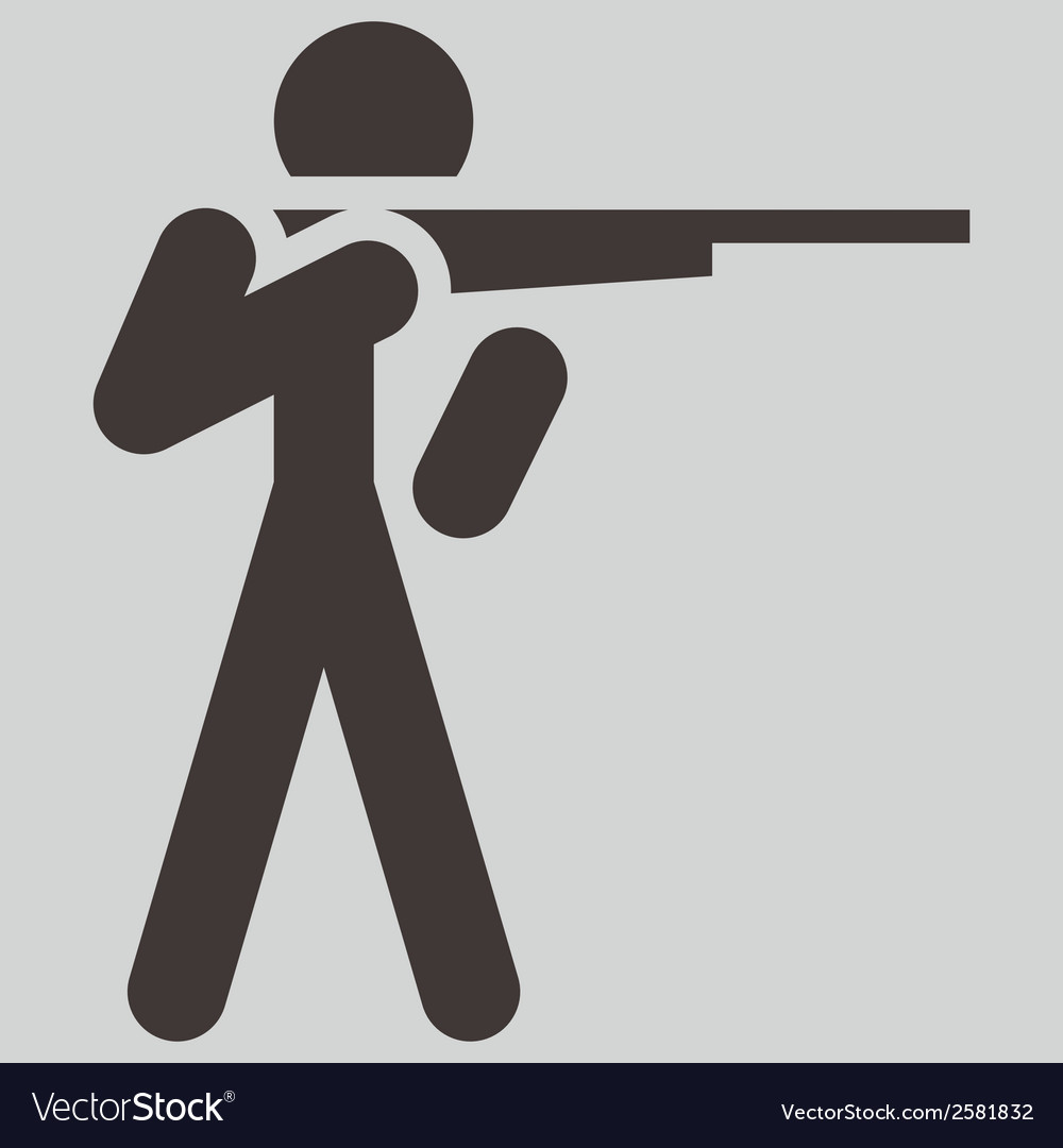 2266 shooting icon vector | Price: 1 Credit (USD $1)