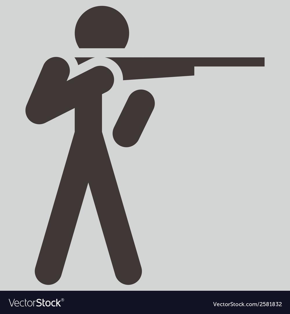 2266 shooting icon vector | Price: 1 Credit (USD $1)