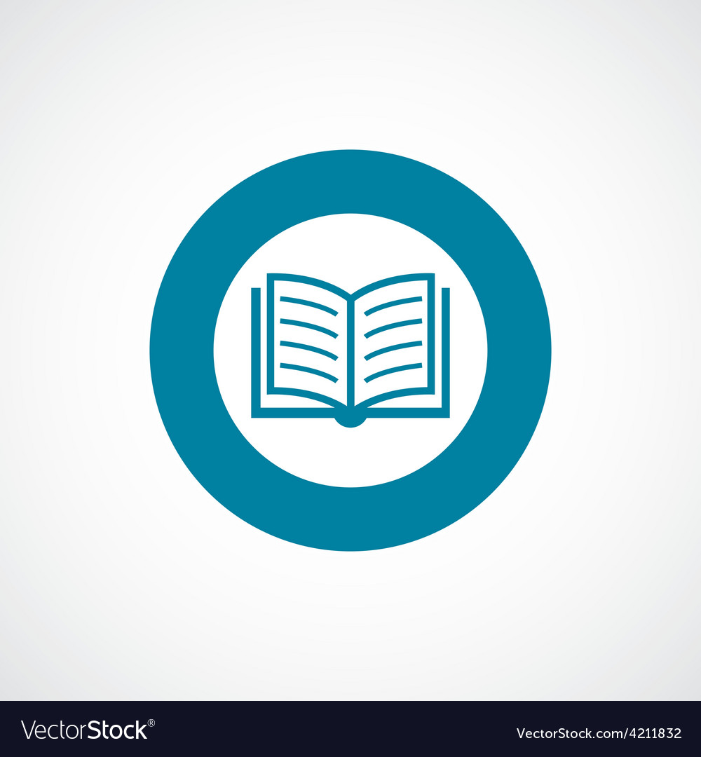 Book icon bold blue circle border vector | Price: 1 Credit (USD $1)