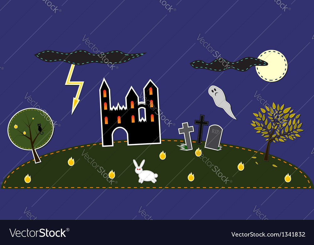 Dark landscape vector | Price: 1 Credit (USD $1)