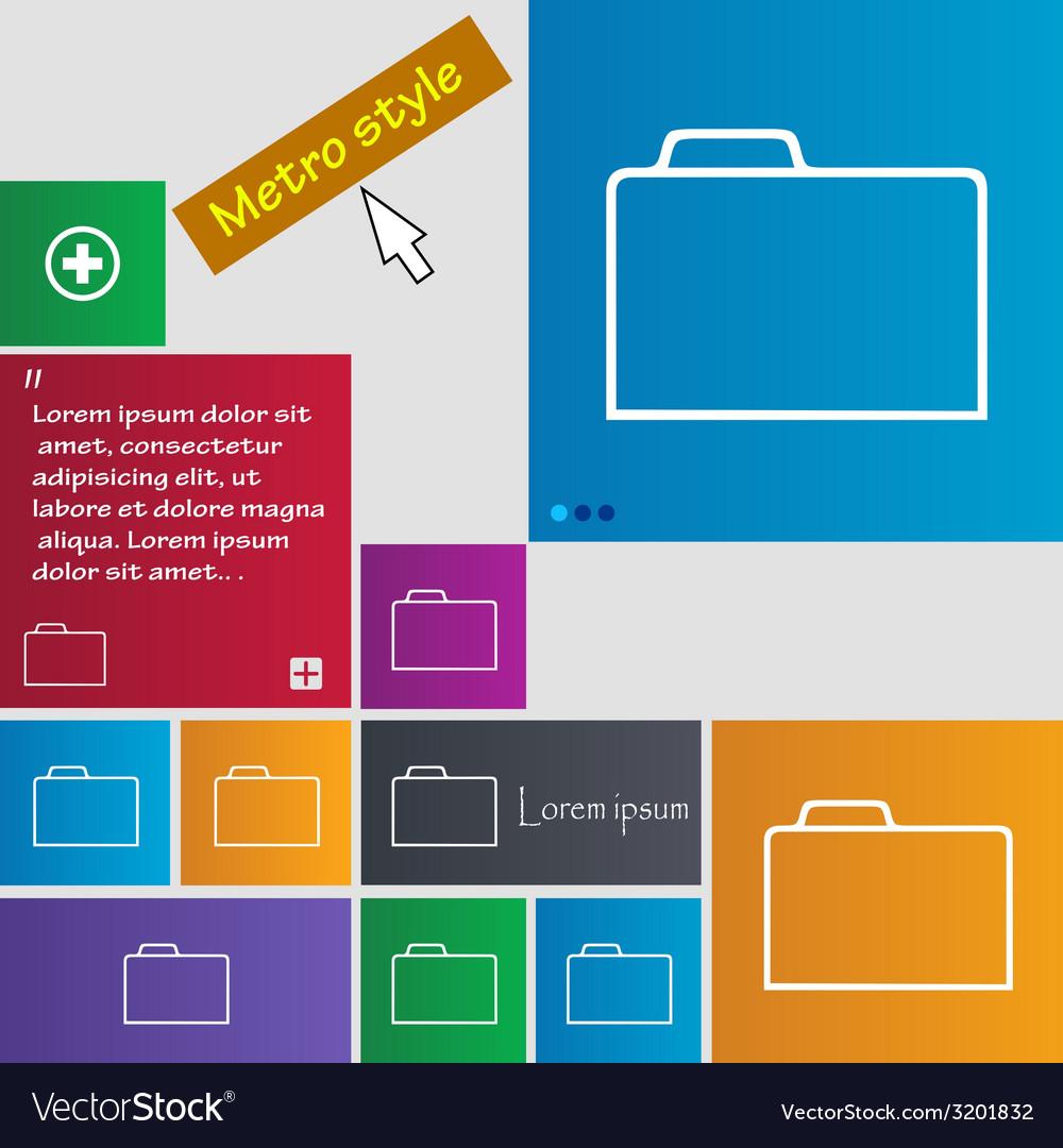 Document folder sign accounting binder symbol set vector | Price: 1 Credit (USD $1)