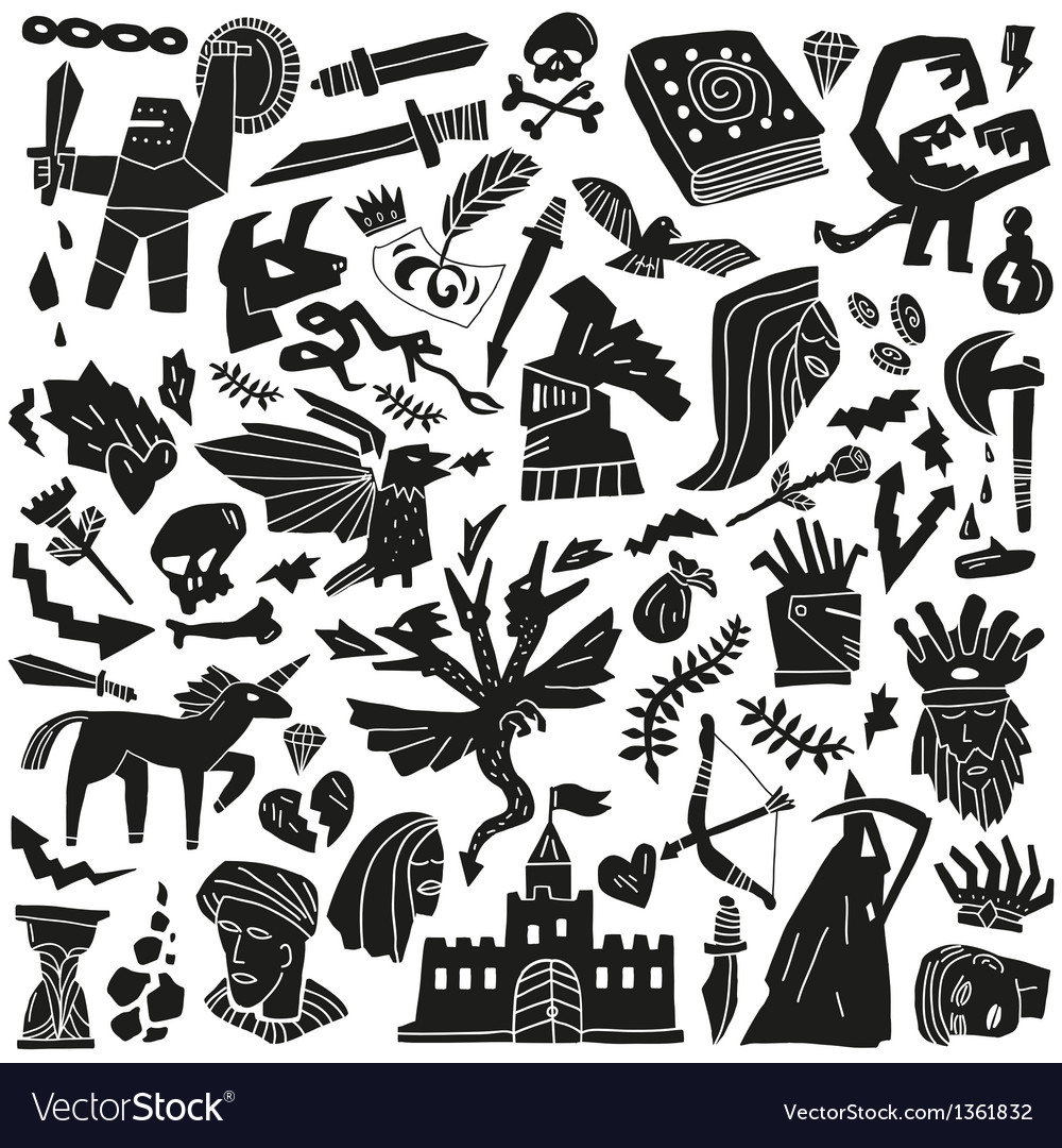 Fairy tale - doodles vector | Price: 1 Credit (USD $1)