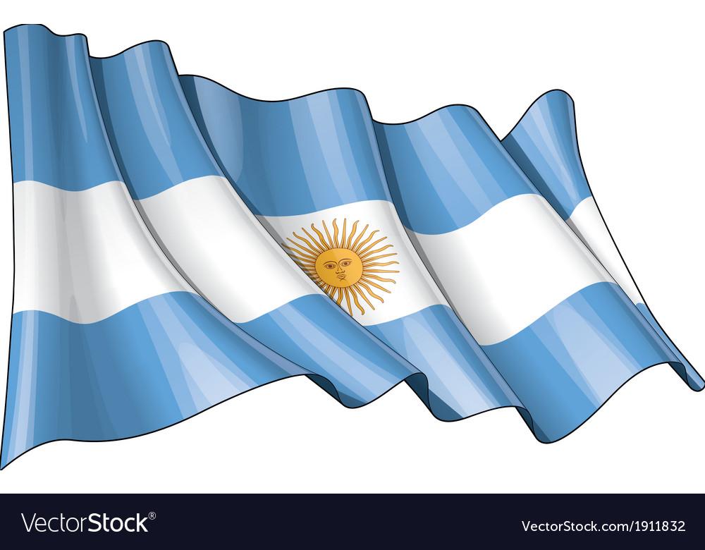 Grange flag of argentina vector | Price: 1 Credit (USD $1)