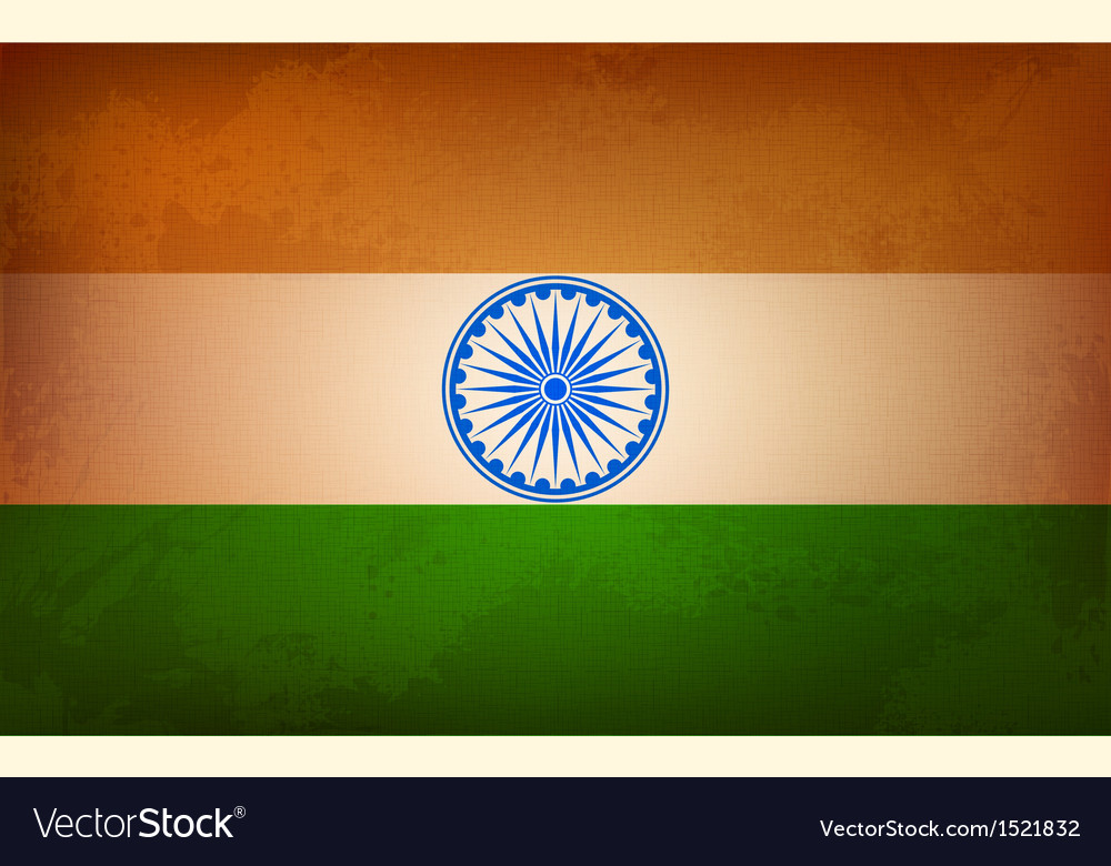 Grungy indian flag vector | Price: 1 Credit (USD $1)