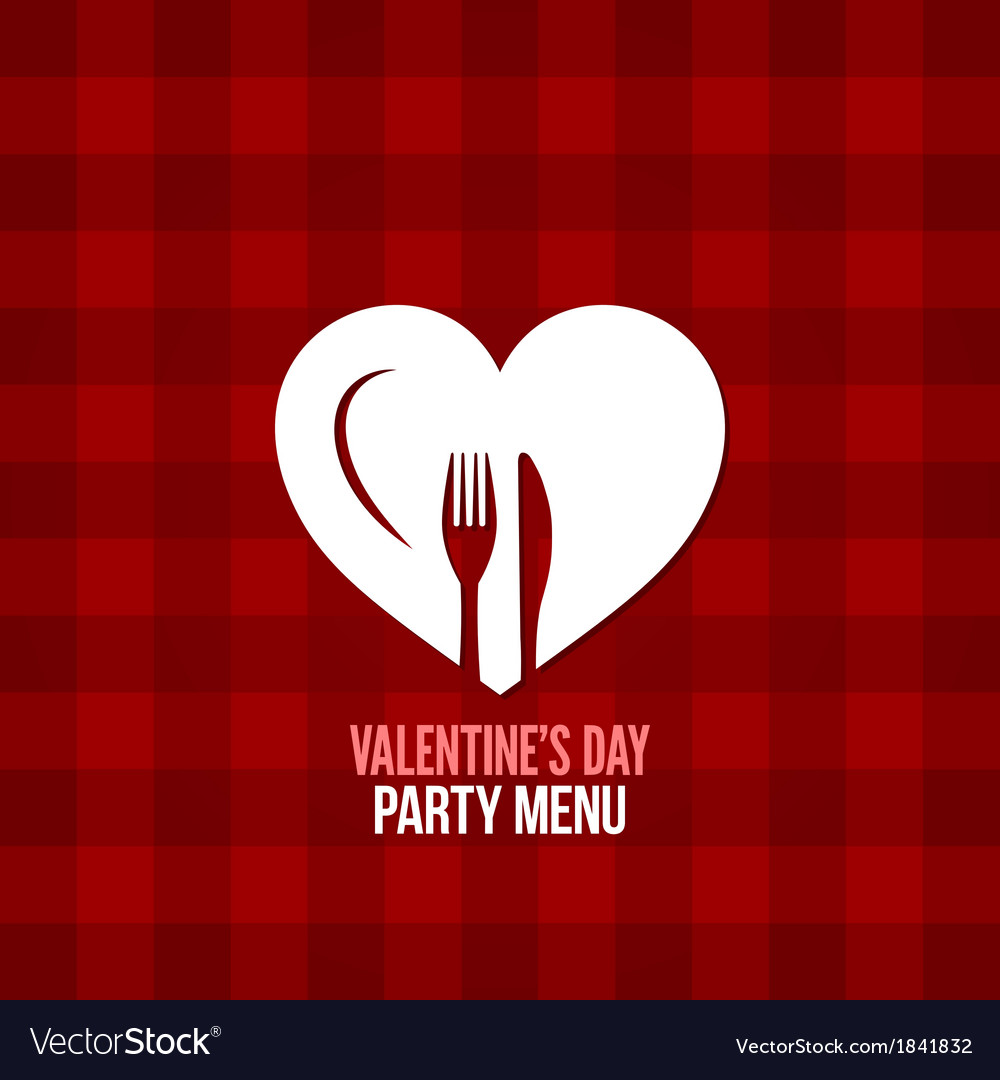 Valentines day menu food drink design background vector | Price: 1 Credit (USD $1)