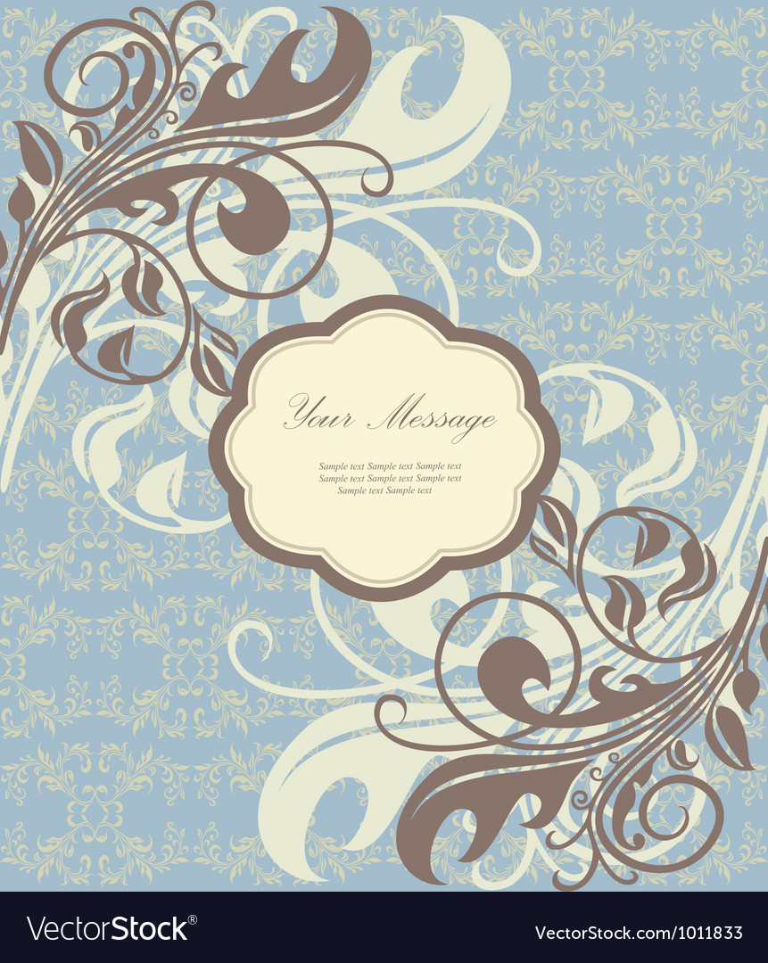 Beautiful floral card vector | Price: 1 Credit (USD $1)