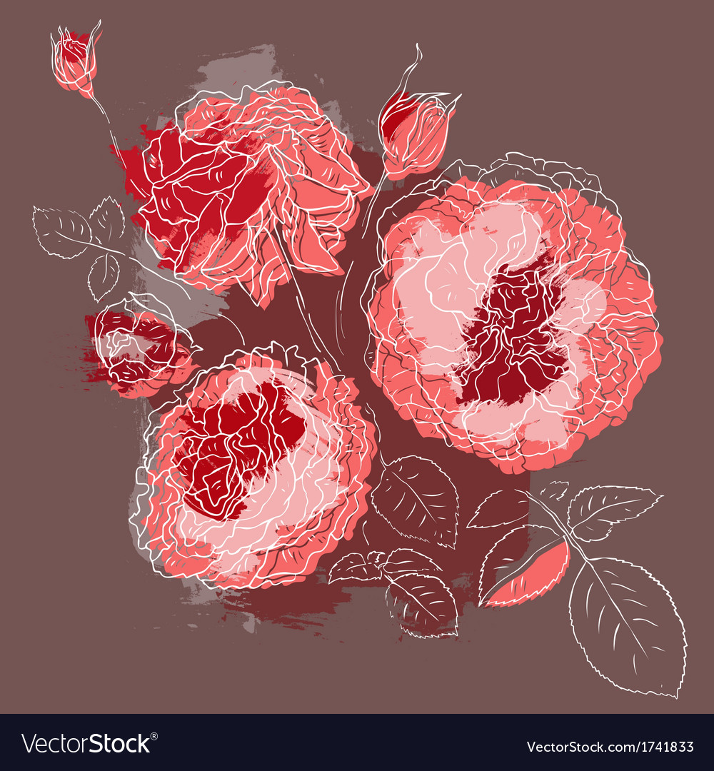 Beautiful pink rose vector | Price: 1 Credit (USD $1)