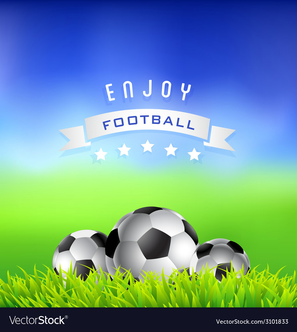 Enjoy football time background vector | Price: 1 Credit (USD $1)