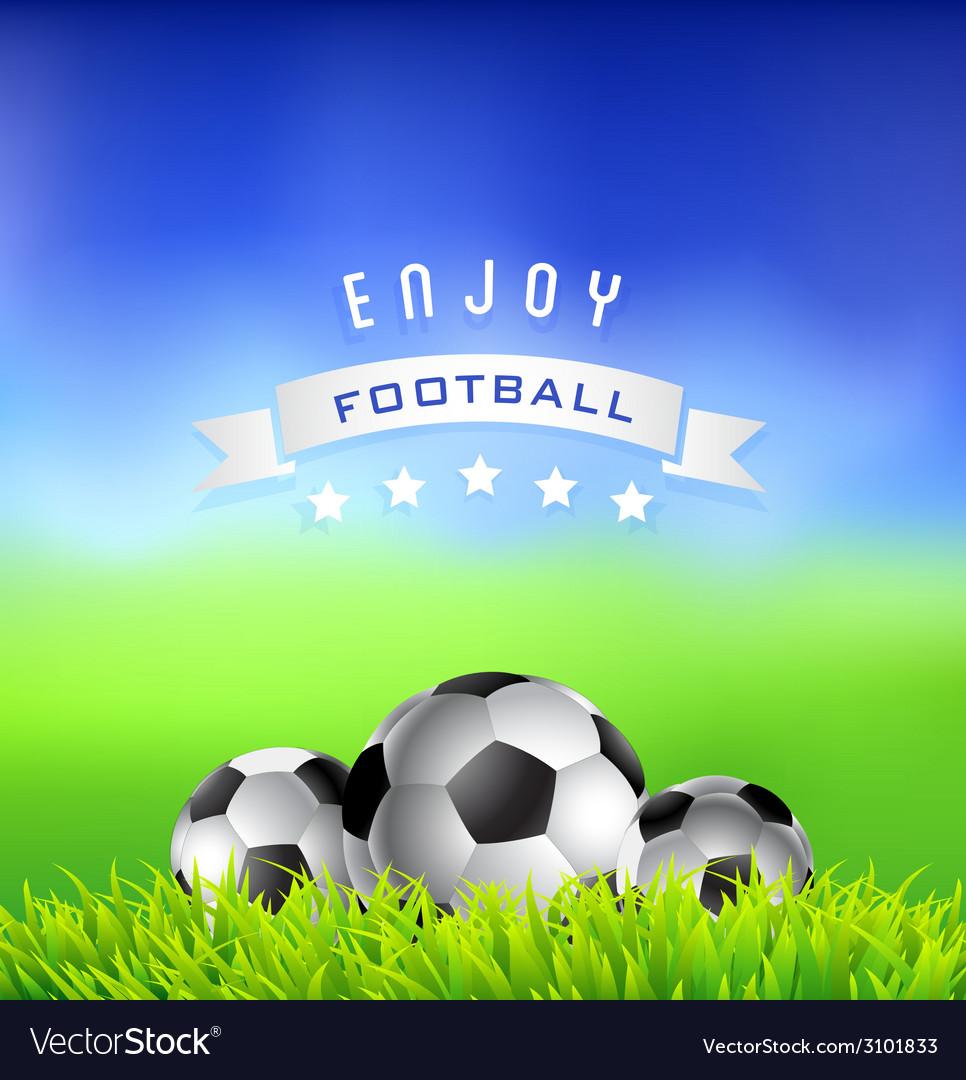 Enjoy football time background vector