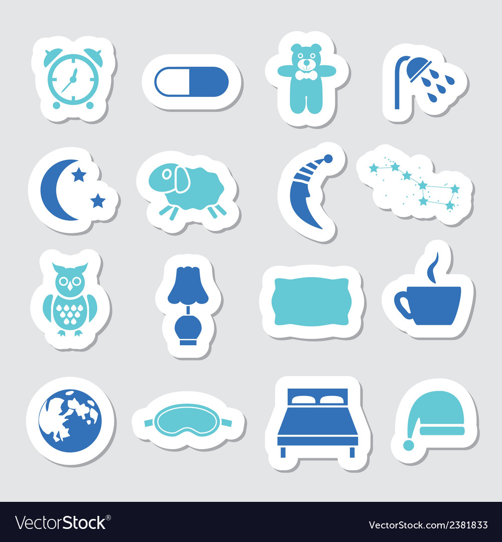 Sleep stickers vector | Price: 1 Credit (USD $1)