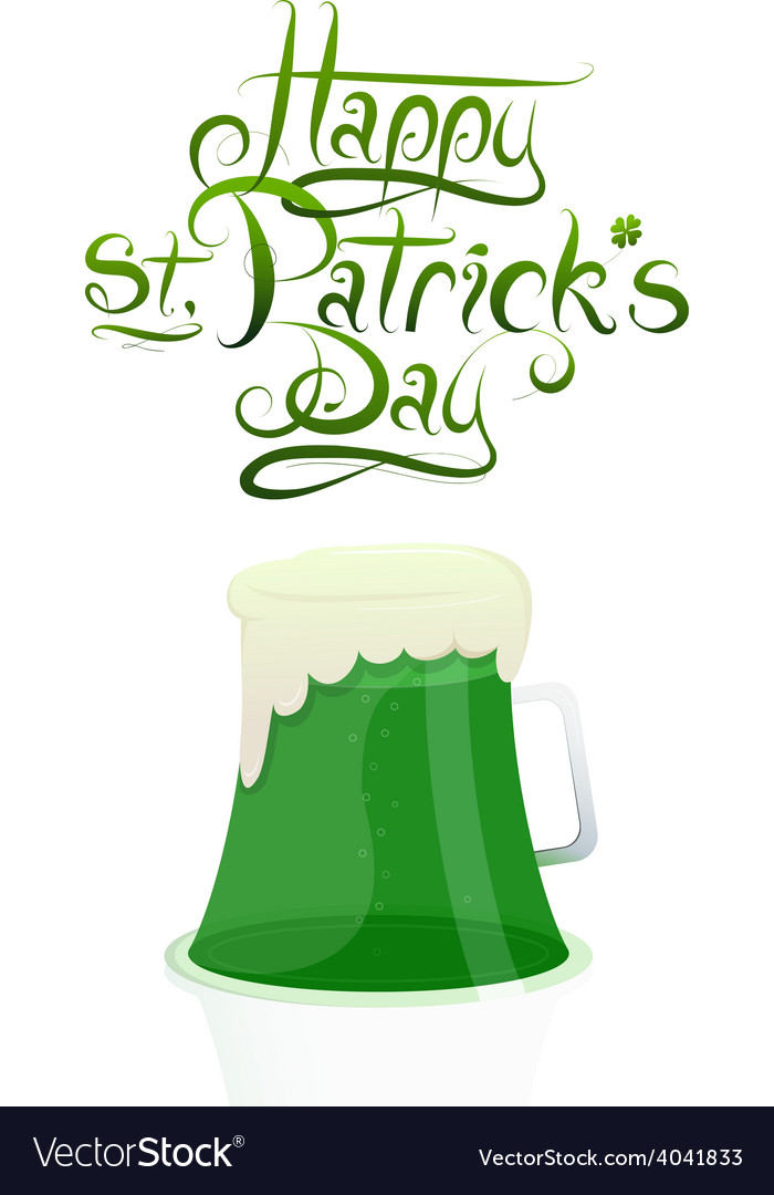 St patrick day greeting card design vector | Price: 1 Credit (USD $1)
