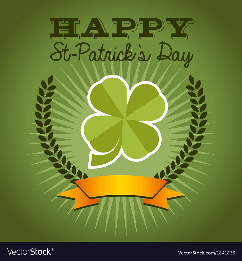 St patricks day background vector | Price: 1 Credit (USD $1)