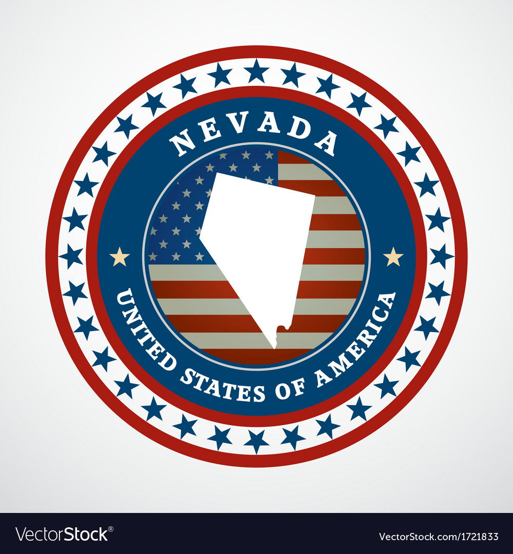 Vintage label nevada vector | Price: 1 Credit (USD $1)