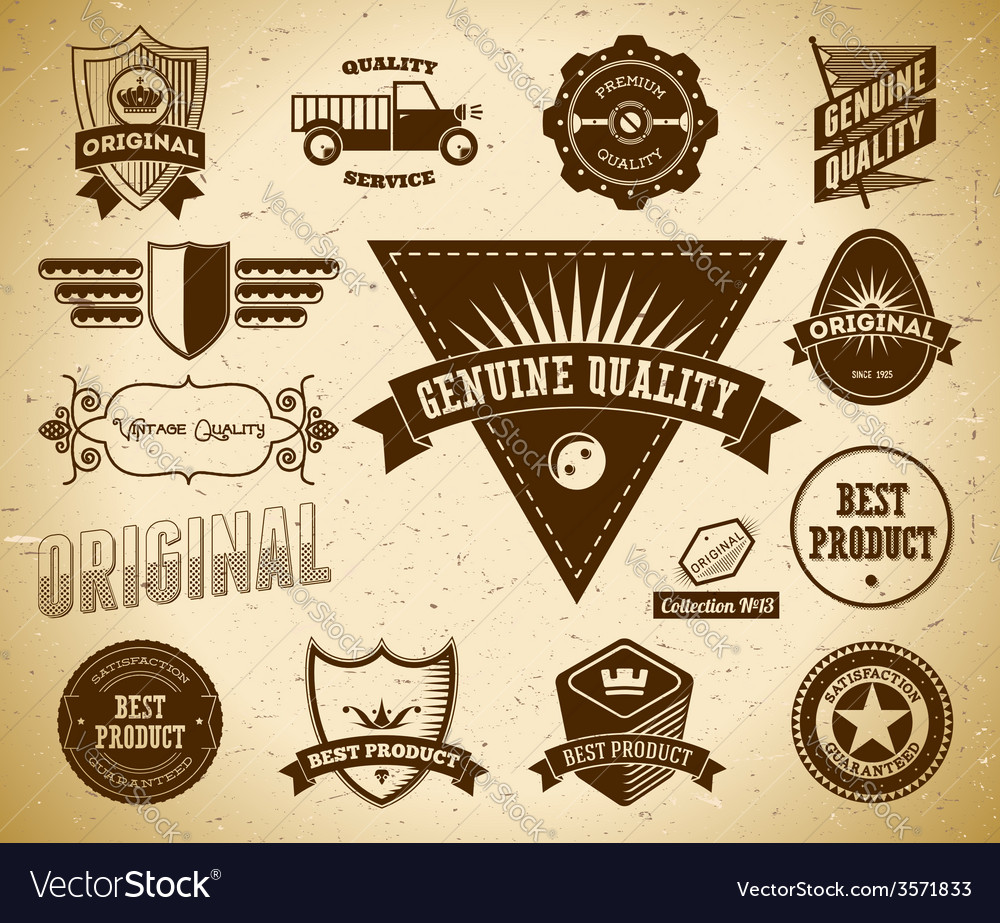 Vintage labels collection 13 vector | Price: 1 Credit (USD $1)