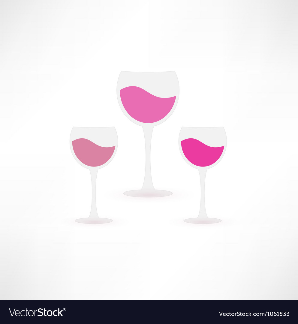 Wine glasses icon vector | Price: 1 Credit (USD $1)