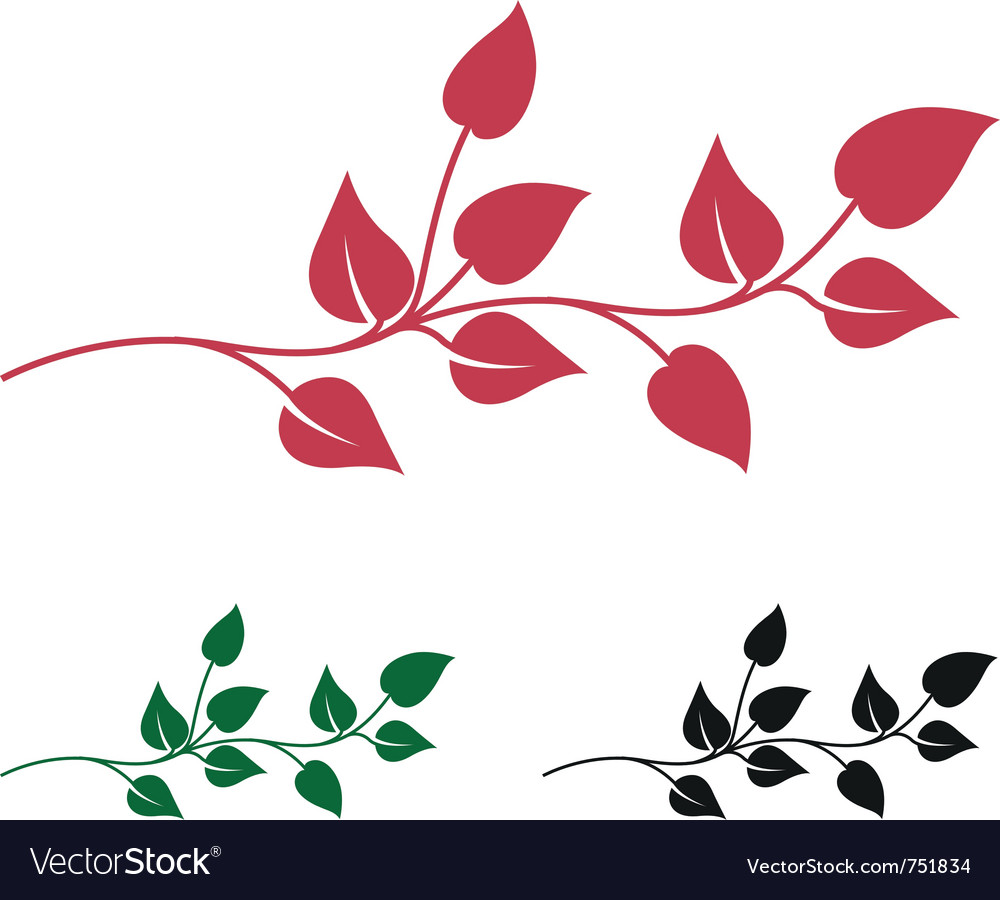 Abstract leaves vector | Price: 1 Credit (USD $1)