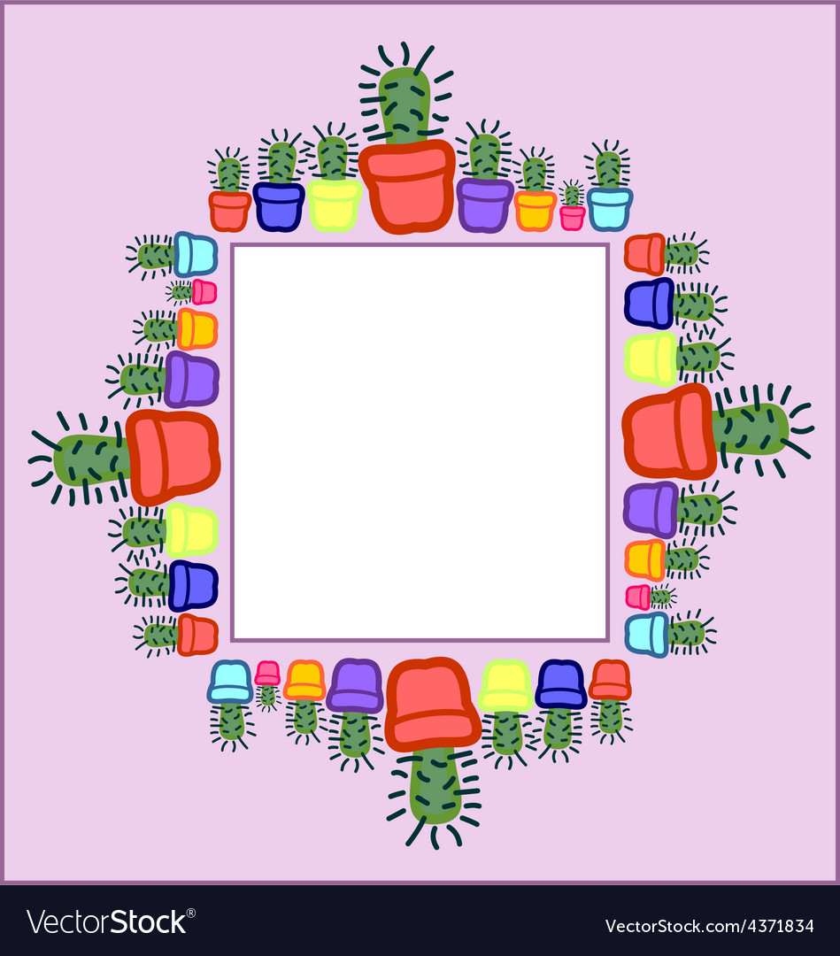 Cactus frame vector | Price: 1 Credit (USD $1)