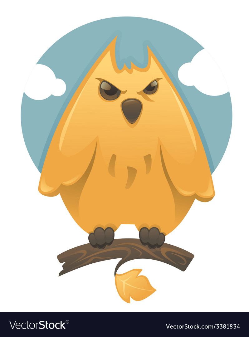 Cartoon glossy owl vector | Price: 1 Credit (USD $1)