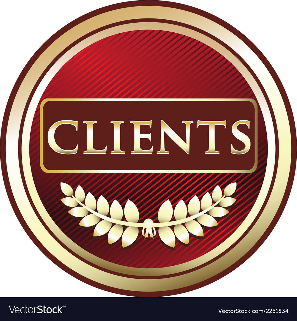 Clients red label vector | Price: 1 Credit (USD $1)