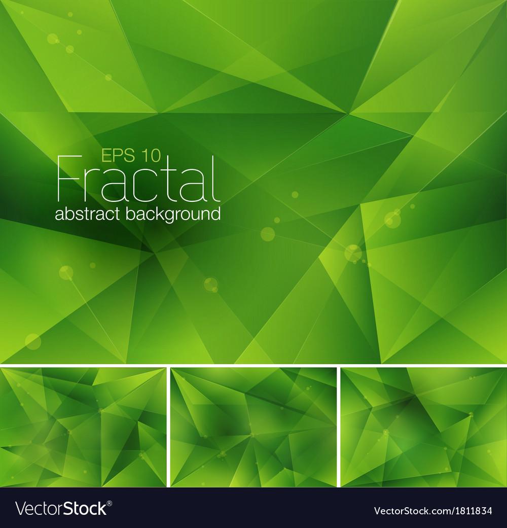 Fractal green vector | Price: 1 Credit (USD $1)