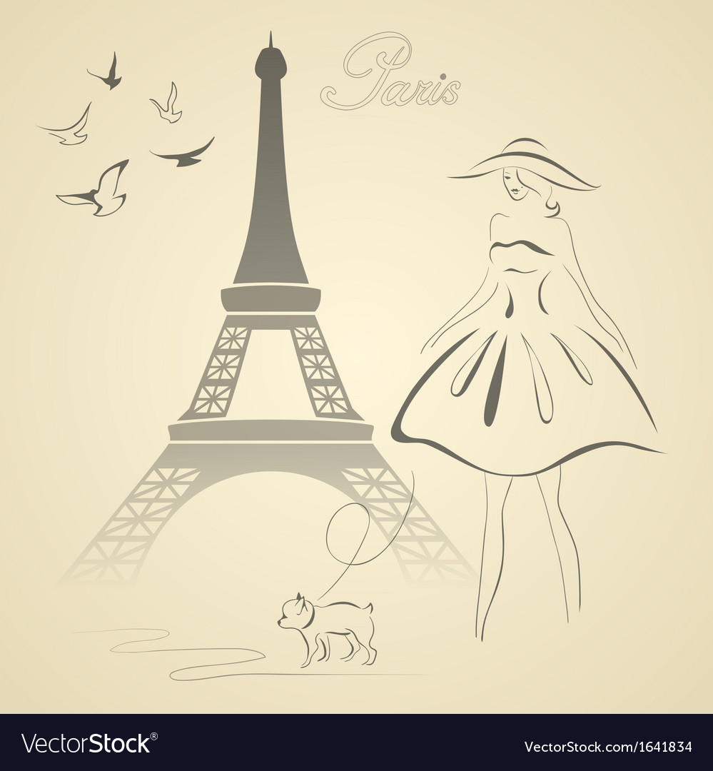 French retro style vector | Price: 1 Credit (USD $1)