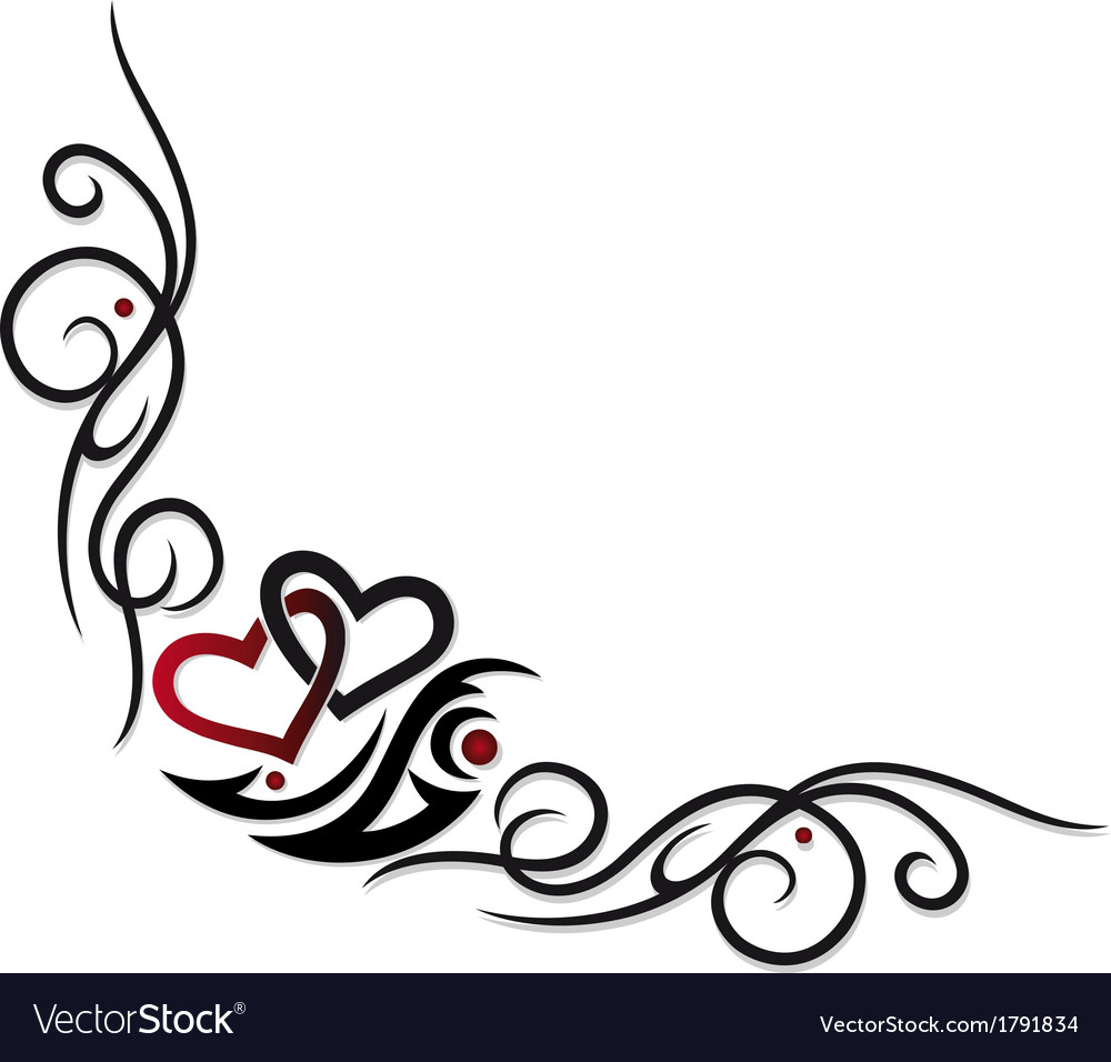 Hearts border vector | Price: 1 Credit (USD $1)