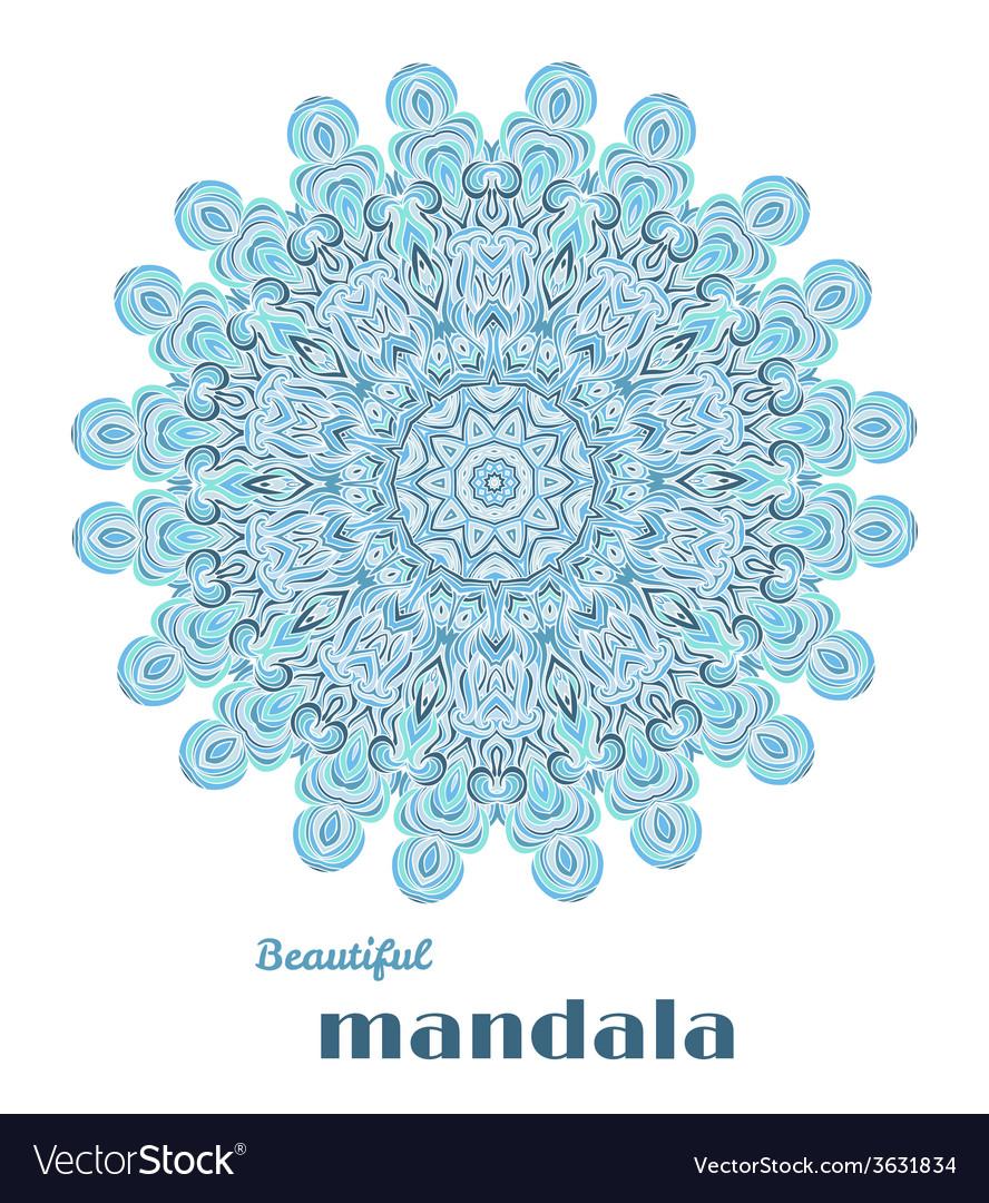 Mandala abstract lace design vector | Price: 1 Credit (USD $1)