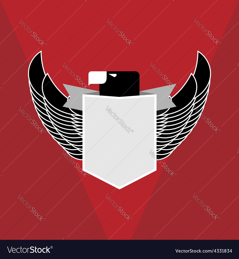 Military emblem eagle vector | Price: 1 Credit (USD $1)