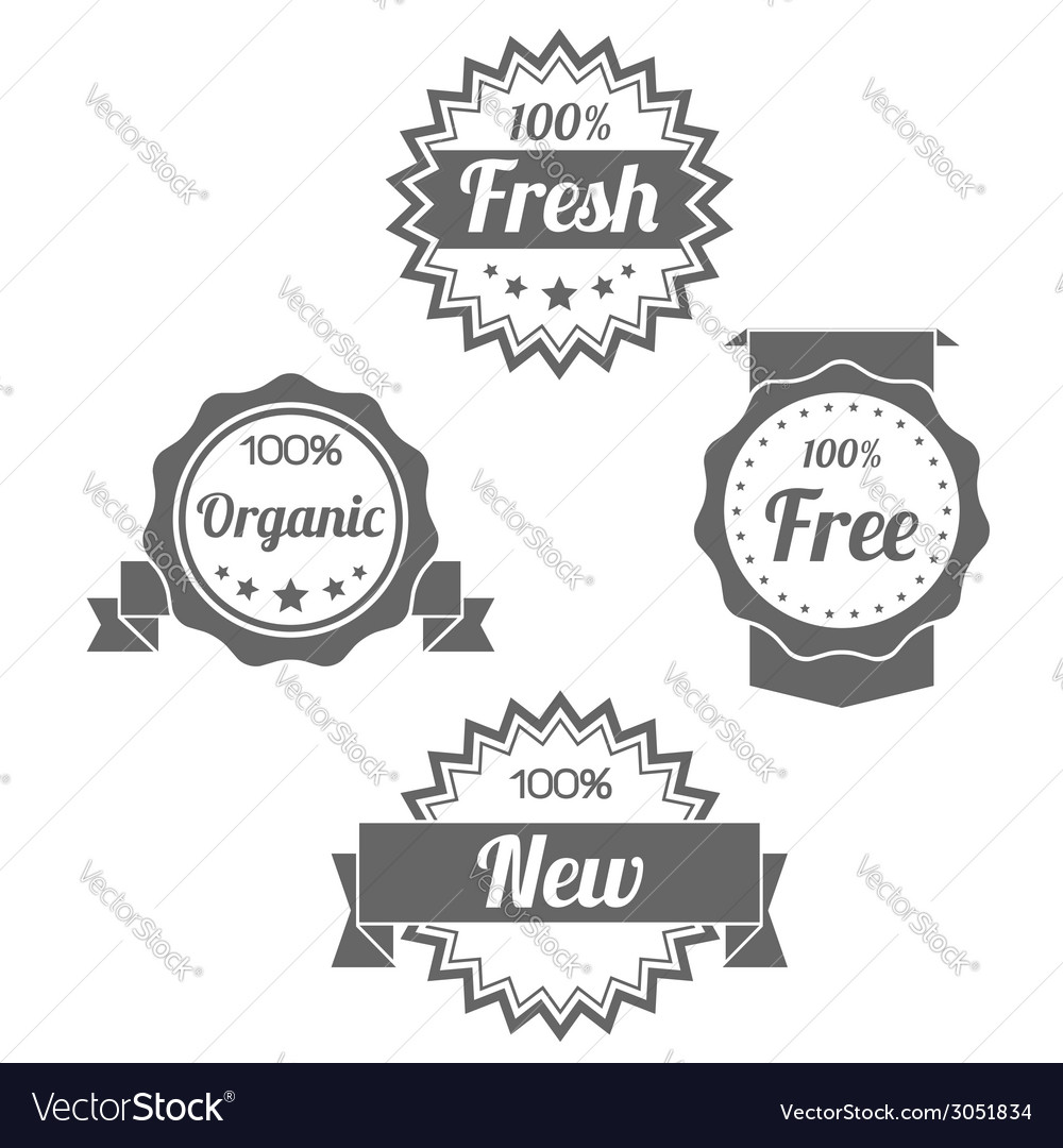Modern flat shop badges tags stamps vector | Price: 1 Credit (USD $1)